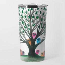 Minnesota Whimsical Owls in Tree Travel Mug