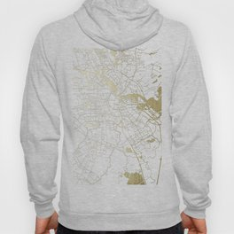 Amsterdam White on Gold Street Map Hoody