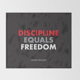 """""""Discipline Equals Freedom"""" Jocko Willink Throw Blanket"""
