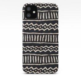 African Vintage Mali Mud Cloth Print iPhone Case