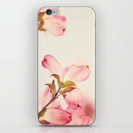 Dogwood Spring Flower Photography, Pink Coral Salmon, Floral Nature Tree Branch, Blossoms iPhone Skin