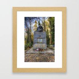 Karl Marx Memorial Framed Art Print