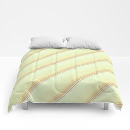 Spring Green Inclined Stripes Comforters