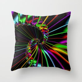 Sparkling spiral Throw Pillow