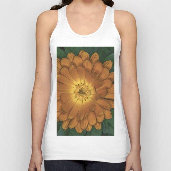 Orange Flower Unisex Tank Top