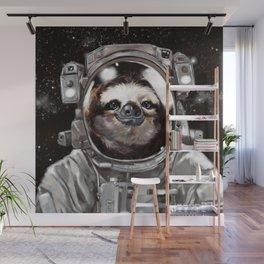 Astronaut Sloth Selfie Wall Mural