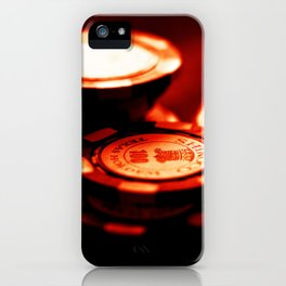 Casino Chips Stacks-Red iPhone Case
