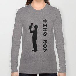 THIS JOY ambigram (turn your head 90 degrees :) Long Sleeve T-shirt