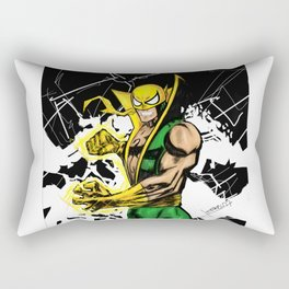 Iron Fist in technicolor Rectangular Pillow