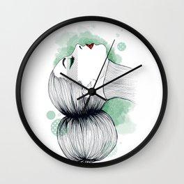 Woman profile Wall Clock