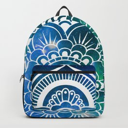Mandala : Blue Green Galaxy Backpack