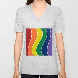 Curving Rainbow Unisex V-Neck