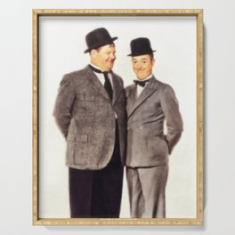 Laurel and Hardy Serving Tray