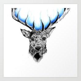 Aurora of Nature (blue)  Art Print
