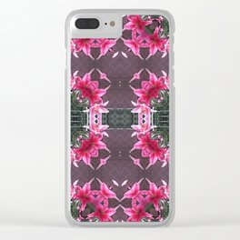 PATTERN LILY STARGAZER 2 BLOSSOM Clear iPhone Case