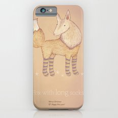 Christmas creatures- Fox with long socks Slim Case iPhone 6s