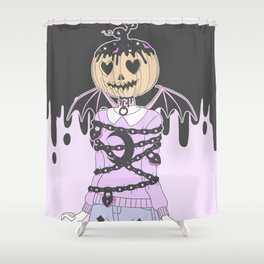 Pumpkin Ghoul Shower Curtain
