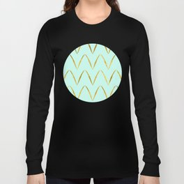 Mint Gold Foil 05 Long Sleeve T-shirt