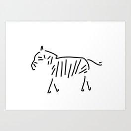 zebra Africa Art Print