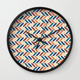Skateboard Color Pattern Wall Clock