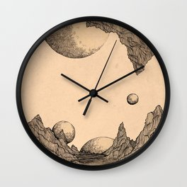 Worlds Collided Wall Clock
