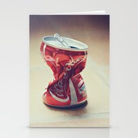 coke Stationery Cards featuring Coke by Ntaly