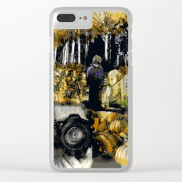 The Black and White Reproduction Clear iPhone Case