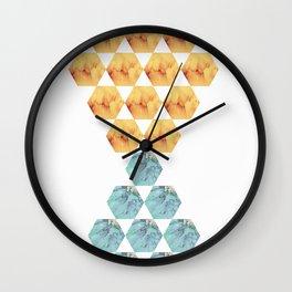 coloured hexagons Wall Clock