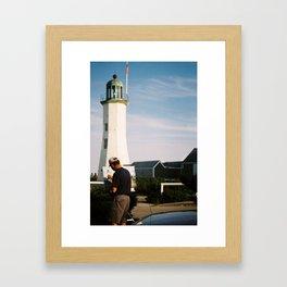 Painting light Framed Art Print