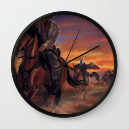 Outlaws Wall Clock