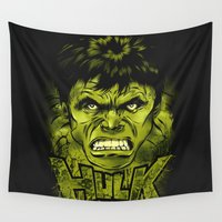 hulk Wall Tapestries featuring HULK by dan elijah g. fajardo