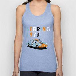 1973 Porsche Carrera RSR At Sebring 12 Hours Unisex Tank Top