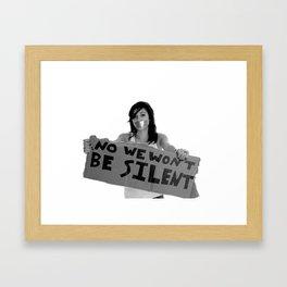 WE WILL NOT BE SILENT Framed Art Print