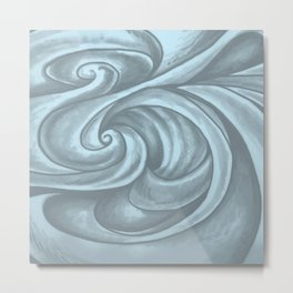 Swirl (Gray Blue) Metal Print