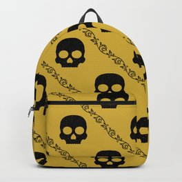 Skulls & Flowers - Gold V2 Backpack