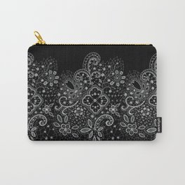 B&W Lace Carry-All Pouch