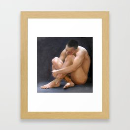 Dreaming young Spartan. Framed Art Print