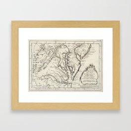 Vintage Map of The Chesapeake Bay (1780) Framed Art Print