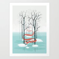 spirit Art Prints featuring Forest Spirit by Freeminds