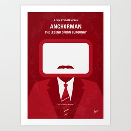 No278 My Anchorman Ron Burgundy minimal movie poster Art Print