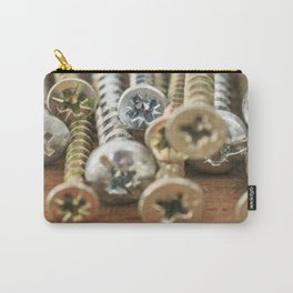 Group of screws macro photo Carry-All Pouch