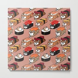 Sushi Shiba Inu Metal Print