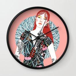 Redhead Girl Wall Clock