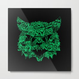 Kitty Witches Metal Print