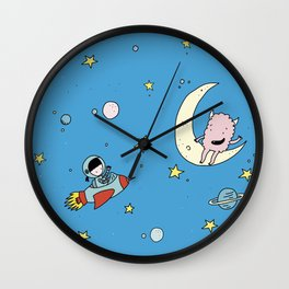 Martina & Anitram in the space Wall Clock