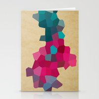crystals Stationery Cards featuring Crystals by Samantha Ranlet