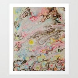 Florescent Fireballs Art Print