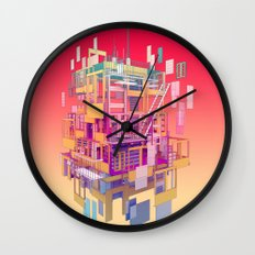 Building Clouds Wall Clock