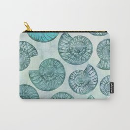 Shimmering Underwater Shell Scenery Aqua Colors Carry-All Pouch