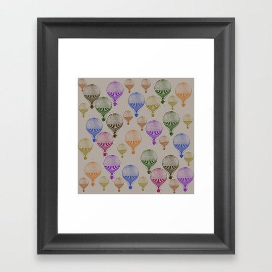 Colorful Hot Air Balloons Framed Art Print